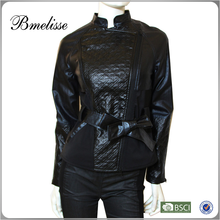2015 LADIES FASHION LAMB NAPPA LEATHER JACKET,LEATHER GARMENT,LATHER COAT