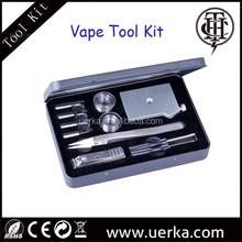 rba/rda atomizer tool kit for ecig rebuildable atomizer tool kit inculding coil jig atomizer holder ceramic Tweezer Clipper