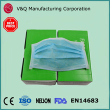 3ply 17.5* 9.5 disposable safety nonwoven face mask
