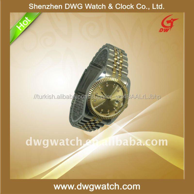 2011 moda erkek saatler Paslanmaz çelik saatler japonya hareketiile Dwg-- M010