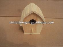 OEM natural color Wooden bird house