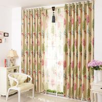 Mushroom trees printed casement polyester printed designs curtain