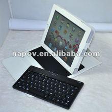 Wireless bluetooth keyboard leather case for ipad1 ipad2 ipad 3