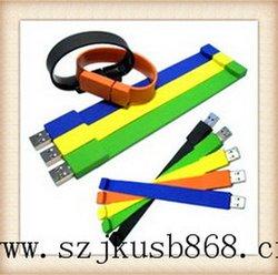 Wristbulk 1GB USB flash drives,Colorful waterproof USB silicone wrist