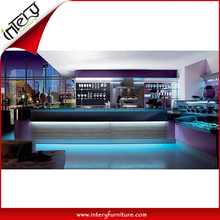 Wonderful Quartz Stone Countertop LED Lighting Wine Bar Counter