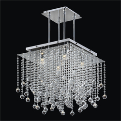 Crystal ball drop chrome plated CE/UL modern crystal led light