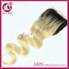 New Coming Grade 7A Color#1B #613 Remy Brazilian Body Wave 4*4 Bleached Knots Hair Closure Piece
