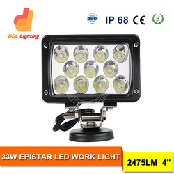 Truck Parts 4Inch 33W LED Work Light, 33w Car Lamp, 33W Auto LED Tuning Light