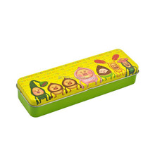 Lovely tin pencil case with hinge pin