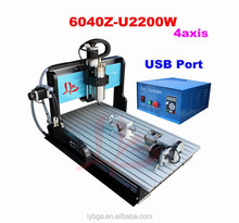 wholesale alibaba 6040Z-U2200W 4 axis cnc milling machine with limit switch routing machine CNC engraving