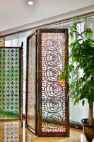 Decorative Stainless Steel interior folding screen room divider Partition curtain