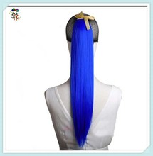 Womens Bright Blue Sexy Long Straight Synthetic Hair Ponytails HPC-0156