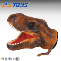 """10"""" tyrannosaurus dinosaur games rubber hand puppets for sale"""