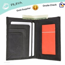 Men PVC Leather Pocket Credit Card Holder Minimalist Bifold Wallet