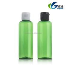 100ml clear flip top cap showel gel bottle, round shoulder cosmetic body lotion bottle
