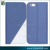 2015 simple flip 0.3mm tpu +pu leather case for iphone 6