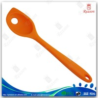 Plastic silicone frying mixing slotted spoon