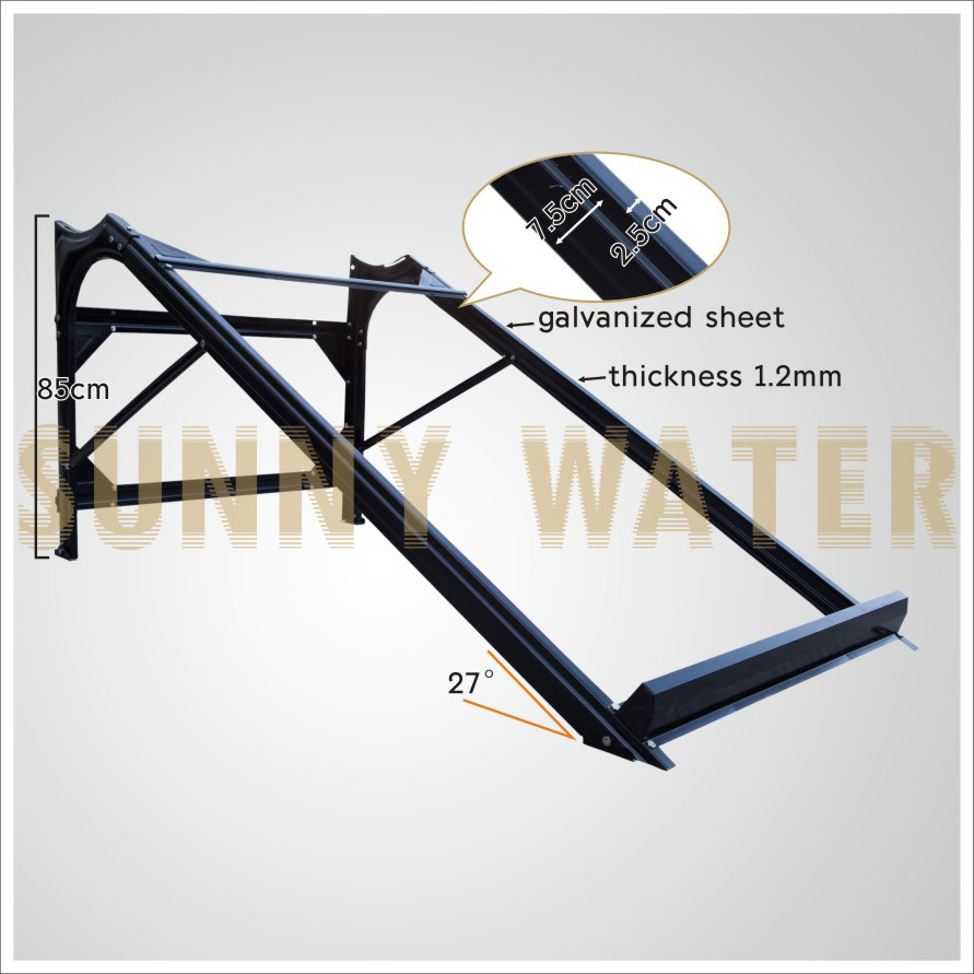 top vente en acier galvanis chauffe eau solaire ch ssis. Black Bedroom Furniture Sets. Home Design Ideas