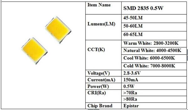 Smd Led: Epistar 3528 Smd Led Datasheet