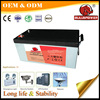 12V 250ah vrla battery dry cell battery ups for Security Systems