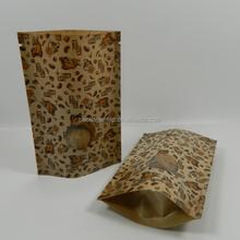 coffee bean/dry fruit/food Kraft Paper packing bags