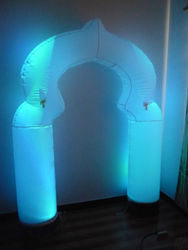 2014 new design colorful inflatable arch with led for advertising