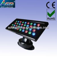 quality warranty 36*1/3w dmx rgb outdoor led flood light