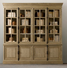 Western country popular style eco-friendly government/school/ library book storage cabinet