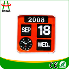 Modern automatic flip calendar clock for decor