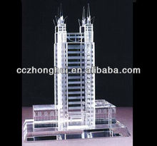 Optical Glass Clear Crystal Factory For Crystal Building Model