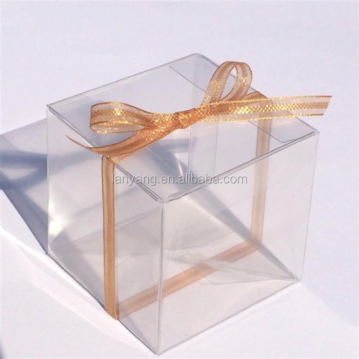 Clear Transparent Cube Favor Boxes Various Sizes Pvc Box Buy