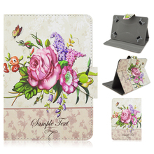 New Printing Colored Drawing Flower PU Leather Tablet Cover Case For iPad 2/3/4/Air