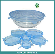 6pcs in pack, Food grade expand lid , flex, resilience , scaling , stretch cover lid