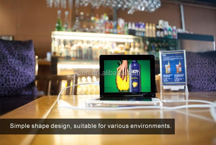 Hot Selling Portable Restaurant Menu Table Charging Station - Restaurant table advertising