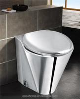 stainless toilet bowl