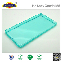 Ultra Thin slim Clear TPU Case Cover for sony xperia M5 ,soft silicon 0.3mm tpu case