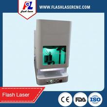 gold supplier safe design PVC/ABS/PC/copper/nylon/Aluminium 20W fiber laser metal marking machine ( trade assurance supported)