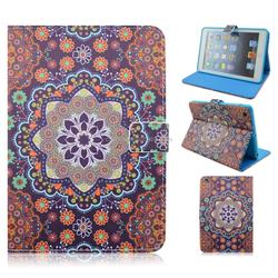 Tribal Tattoos Flowers Stand TPU+PU Leather Tablet Case For iPad Mini 1/2/3