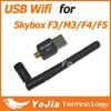Mini USB wifi with antenna wireless network for Skybox M3 / F3 / F4/ F5 Satellite Receiver