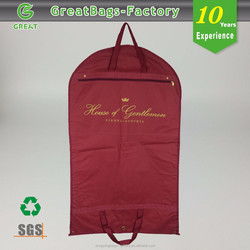 Lightweight Breathable suit foldable non woven garment bag