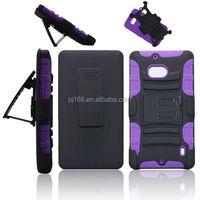 3 in 1 heavy duty kickstand hybrid combo case for Nokia lumia 720
