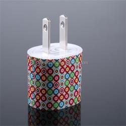 high speed 5v 1a leopard zebra dots printed power adapter mobile phone charger