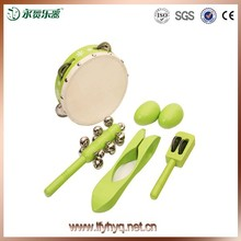 Sports & Entertainment educational music instrument tambourine,bell and musical spoons percussion set