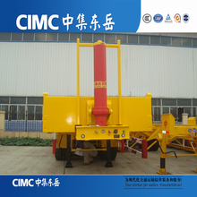 CIMC Cheap Rear Tipping Vehicles with Flat Top, Tipper Semi Trailer, Tip Truck Trailers