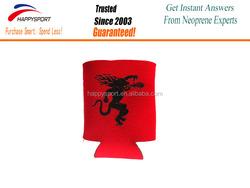Neoprene foldable can cooler custom stubby holder