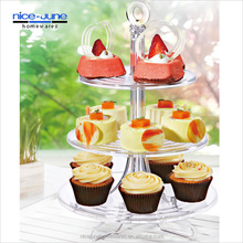 3-Layer cake stand Plastic cupake Cake Display Stand Tiered Serving Stand