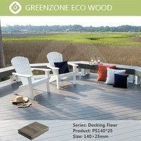 Natural type easy installation outdoor wpc decking plastic wood plank flooring