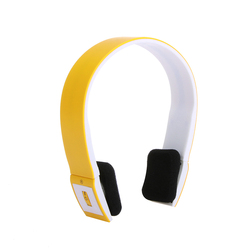 Orange 2.4G Wireless Bluetooth V3.0 + EDR Headset Headphone with Mic for iPhone iPad Smartphone Tablet PC V497C