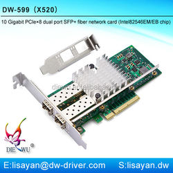 Fast Ethernet Intel 82599/X520 Dual SFP+ Port PCIe x8 10G Network Adapter