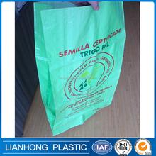 BOPP laminated pp woven bag for grain/flour/rice bag,pp gusset bag,breathable bopp bag